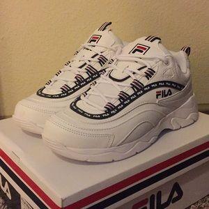 Women's FILA Ray Repeat Chunky White Shoes